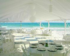 Wedding Reception on the Beach.
