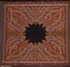Linens & Textiles (pre-1930) Superb Antique Paisley Cashmere Kashmir Kashmiri Cachemire Long Shawl Circa 1840