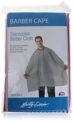 Betty Dain Barber Cape, Seersucker Barber Cloth, Red/White 206 V ** This is an Amazon Affiliate link. Want additional info? Click on the image.