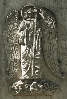 Angel in relief. Novodevichy Convent, Moscow
