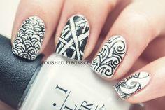 Zentangle nail art - http://yournailart.com/zentangle-nail-art/ - #nails #nail_art #nails_design #nail_ ideas #nail_polish #ideas #beauty #cute #love
