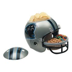 Panthers Snack Helmet - $64.99 // Snazzy snacks for game day.