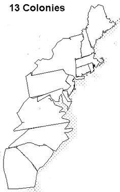 Coloring Page 13 Colonies Map 13 Colonies Map 13 Colonies