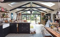 Annie and Ollie Browning added to their home to create a stunning, open-plan extension for all the family to enjoy