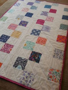 Check Mate! 2-step Quilt tutorial from Jera, Quilting in the Rain. Nice cute and simple baby quilt-sews quickly