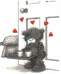 Tatty Teddy ~ Coffee in Bed