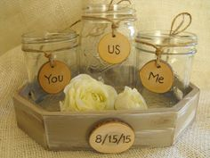 Mason Jar Sand Ceremony Set Personalized With The Brides & Grooms Initials  Wedding Date Country Barnyard Rustic Farmhouse Wedding on Etsy, $32.99