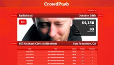 CrowdPush - We enable music fans to organize and fund concerts for their favorite artists.