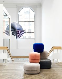 Skandium is in Copenhagen with our friends ! Stay tuned on stories to see more of our trip, and in the meantime enjoy the Normann Copenhagen velvet Circus poufs, shown here at the Kunsthal Charlotteburg exhibition space in Denmark 😍 . Moroccan Leather Pouf, Moroccan Pouf, Diy Home, Home Decor, Scandi Home, Danish Style, Hygge Home, Lounge Areas, Danish Design
