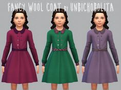 Unbichobolita — Look, I made another one! A very fancy and classic. Sims 4 Game Mods, Sims Games, Sims Mods, Sims 4 Mods Clothes, Sims 4 Clothing, Sims 4 Cas, Sims Cc, Cc Fashion, Kids Fashion