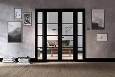 Room Divider Black Soho W6 Door Dividers, Room Divider Doors, Soho Rooms, Build Your House, Design Your Home, Internal Doors, House Rooms, Windows And Doors, French Doors