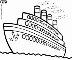 Titanic Coloring Pages Print | ABC 123-social studies ...