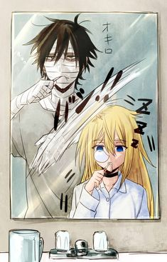 Angel of Death Otaku Anime, Anime Guys, Manga Anime, Anime Art, Angel Of Death, Satsuriku No Tenshi, Anime Love Couple, Manga Couple, Rpg Horror Games