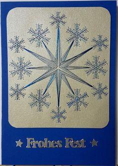 Fadengrafik - Grußkarten - Set mit dem abgebildeten Fadengrafik-Motiv  bestehend aus: 1 Doppelkarte / Klappkarte im Format A6 10,5 x 14,8 cm 1 passender Briefumschlag (je nach Verfügbarkeit) in...