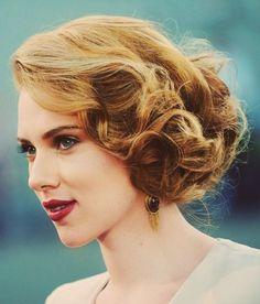 Penteado de celebridade com Scarlett Johansson