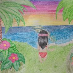 """""""Inspiration: Paradise (@djtigerlily ) Motto: sunset on the beach #beach#drawing#finally#ready#sunset#draw#paint#painting#sketch#sketching#sea#bikini#girl#drawingoftheday#colour#colours#hair#blackhair#flowers#love#thinkingaboutyou#you#paradise"""" by @vxrl.r.n. #familia #amor #love #family #caras #luxurylifestyle #luxury #luxurylife #fashion #lifestyle #design #style #designer #millionaire #travel #luxurycars #fashionblogger #luxurytravel #summer #luxuryliving #money #instagood #luxuryhomes…"""