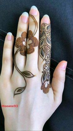 Latest Henna Designs, Henna Tattoo Designs Simple, Floral Henna Designs, Finger Henna Designs, Mehndi Designs Book, Full Hand Mehndi Designs, Mehndi Designs For Beginners, Mehndi Designs For Girls, Mehndi Design Photos