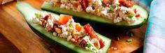 Kattints a képre, és olvasd el a receptet az aldi.hu-n! Good Healthy Recipes, Healthy Snacks, Food Porn, Izu, Cottage Cheese, Finger Foods, Mozzarella, Zucchini, Good Food