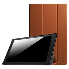 Fire Tablet Accessories  Fintie SmartShell Case for Fire HD 10  Ultra Slim Lightweight Standing Cover with Auto Wake  Sleep for Amazon Fire HD 10 Tablet 101 HD Display 5th Generation  2015 release Brown ** Clicking on the VISIT button will lead you to find similar product