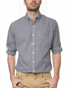 U.S. Polo Assn. Collard Men's Roll-Up Shirt