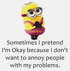Funny Minion Quote About Problems