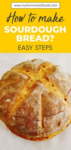 Craving a simple and tasty bread? Check out this homemade sourdough made with three ingredients: water salt and sourdough starter. Sourdough Recipes, Sourdough Bread, Bread Recipes, Muffin Recipes, Baking Recipes, Whole Food Recipes, Healthy Recipes, Healthy Baking, Healthy Foods
