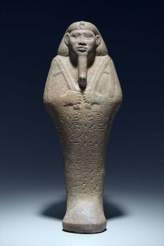 Shawabty of King Taharqa-The ushabti (also called shabti or shawabti, with a number of variant spellings, Ancient Egyptian plural: ushabtiu) was a funerary figurine used in Ancient Egypt. Ushabtis were placed in tombs among the grave goods and were intended to act as substitutes for the deceased, should he/she be called upon to do manual labor in the afterlife. They were used from the Middle Kingdom (around 1900 BC) until the end of the Ptolemaic Period nearly 2000 years later.