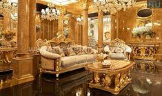 Sofa Mewah - Furniture Jepara - Furniture Jepara Log Furniture, Furniture Styles, Luxury Furniture, Living Room Furniture, Furniture Design, Italian Living Room, Classic Living Room, Modular Sectional Sofa, Antique Sofa