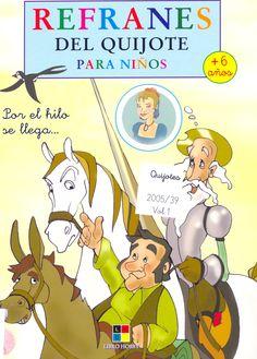Refranes del Quijote para niños / adapt. J. Leyva, il. S. Aguilar (2005) - ED/Quijotes 2005/39 (4 vols.)