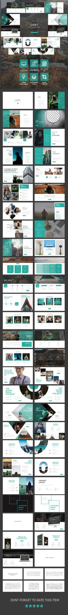 Lost - Multipurpose Presentation Template - #Business #PowerPoint Templates Download here:  https://graphicriver.net/item/lost-multipurpose-presentation-template/19746829?ref=alena994