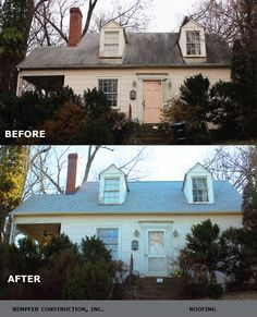 Rempfer Construction, Inc. - Roofing Before & After Garage Doors, Construction, Outdoor Decor, Home Decor, Building, Decoration Home, Room Decor, Home Interior Design, Carriage Doors