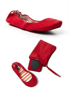 CitySlips Foldable Canvas Flats $40 / Open sky. how convenient is this! Need these for my trips to New York