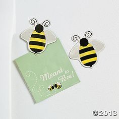 """""""Meant To Bee"""" Cards With Bee Magnet- cute idea"""