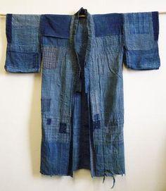 19th century boro cotton work coat