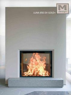 M-Design Liftdeurhaard Doorkijkhaard LUNA GOLD PLUS 850DV | Euron-kachels.nl - Kachel, Pelletkachel, Houtkachel, Gaskachel
