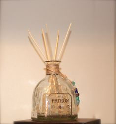Reed Diffuser Recycled Patron Bottle Liquid by HappyHourStudios, $10.00 (Diy Candles Scented)