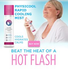 Rapid Cooling Mist by Physicool delivers instant, long lasting relief from hot flashes and ambient heat. Rapid evaporation technology draws heat away from the skin leaving you feel cool and fresh. Menopause Relief, Night Sweats, Beat The Heat, Hot Flashes, Mists, Essential Oils, How Are You Feeling, Canada, Technology