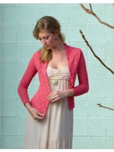 Lepidoptera Cardigan - Holding a lace yarn double for the bands and single-stranded for the body creates subtle contrast in gauge and texture.