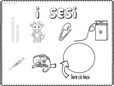 ı Sesi çalışma Sayfası Okuma Yazma çalışmaları Preschool