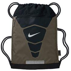 Nike Vapor Gym Sack Khaki/Black/Metallic Silver. Nike Vapor Gymsack Cargo Khaki/Black/Metallic Silver Nike Bags Backpacks