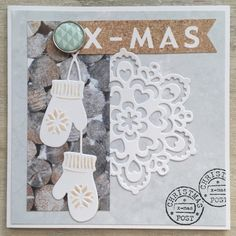 Bij de knutseldate die mijn moeder en ik afgelopen weekend hadden, nam mijn moeder het papierblok Nordic Winter van Marianne Design mee. ...