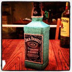 Glittered Jack Daniels bottle