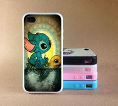 Stitch and Turtlel iPhone 4 Case Lilo and Stitch
