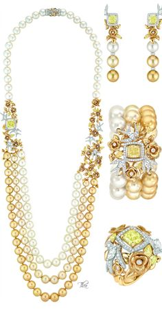"Chanel ●  Les Perles de Chanel ● ""Envolée Solaire"" .. Click & see the entire collection on this fabulous blog :-)"