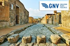 An old #stone #road in #Pompeii, destroyed & buried under 4/6 metres of ash & pumice in the #eruption of Mount #Vesuvius in 79 AD.  Discover #GNV routes from/to #Naples here: http://www.gnv.it/en/ferries-destinations/naples-ferries-campania.html