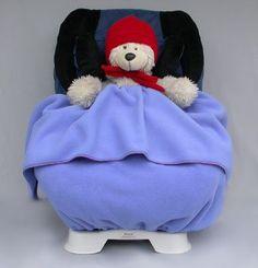 Toddler Convertible Car Seat Cover Blanket – The NUZZLER II – Warm for Winter – Polartec polar fleece – stroller cover
