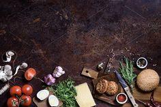 Burger with ingredients by Iuliia Leonova on @creativemarket