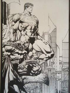 Batman and Superman by David Finch and Danny Miki Batman Drawing, Comic Drawing, Comic Art Fans, Comic Books Art, Batman Artwork, Batman And Superman, Arte Dc Comics, Batman Comics, Univers Dc