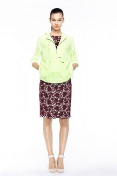 J.Crew spring 2013 - this green and burgundy pairing just feels so right!