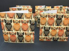 2.75 Square Cards Tags  set of 9 Halloween by PaperMoments on Etsy